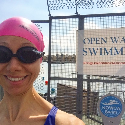 My new happy place (the royal docks open water swim centre)
